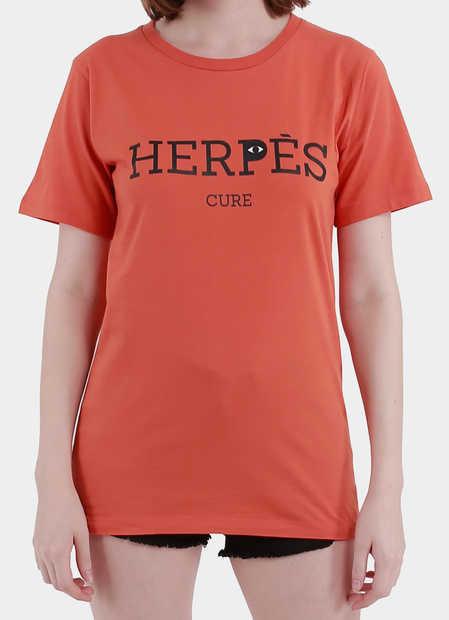 Product Women - Tees - Herpes Cure Tee Orange | Monstore