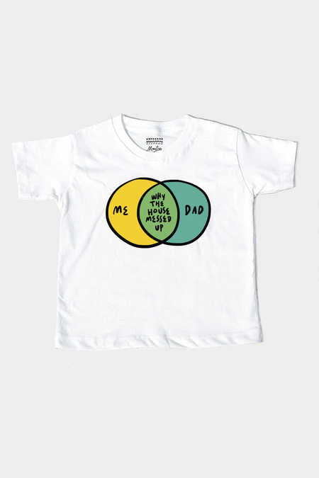 5f0edfa8530b ... 5-6.  MonstoreKiddo. Me Dad Kids Tee Off White