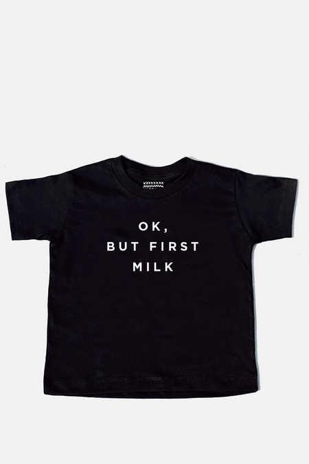 ok-but-first-milk-kids-tee